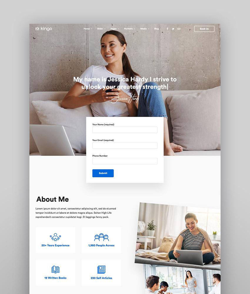 Kingo   Tema de WordPress para una web de empresa con funcionalidad para reservas online