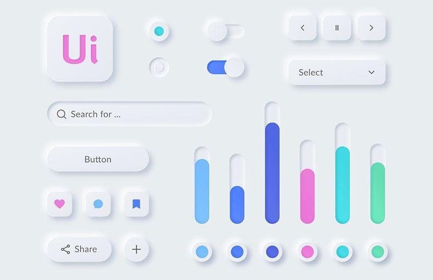 FREE Neumorphism UI kit for Figma