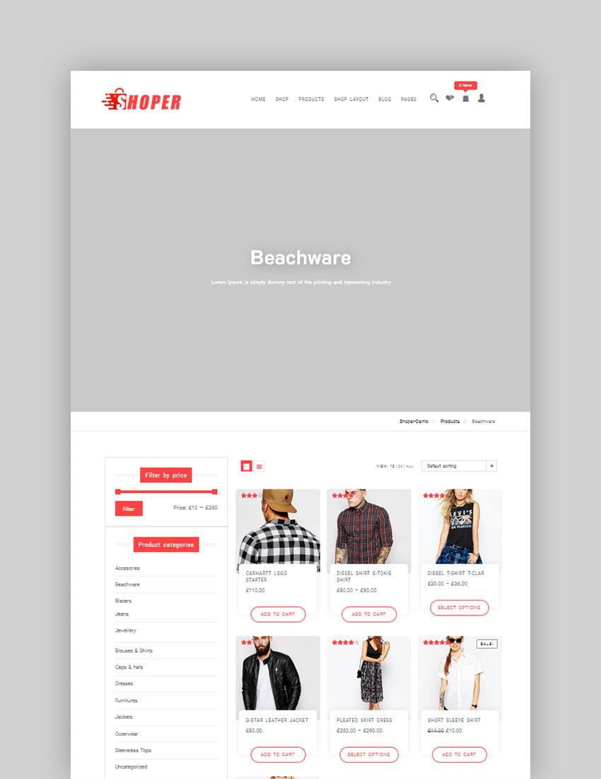 Shoper (Free WordPress Theme)