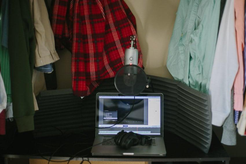Closet Studio setup