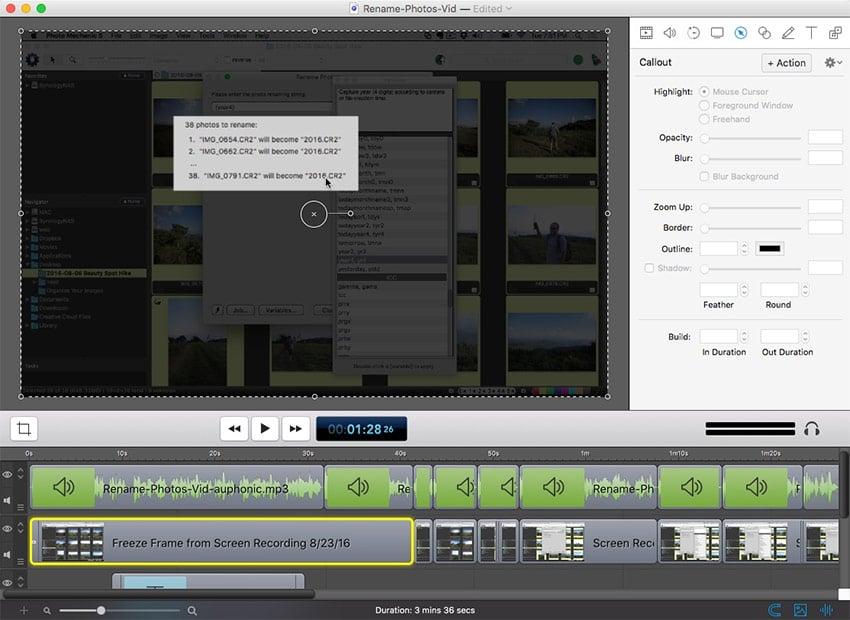 Screenflow Interface
