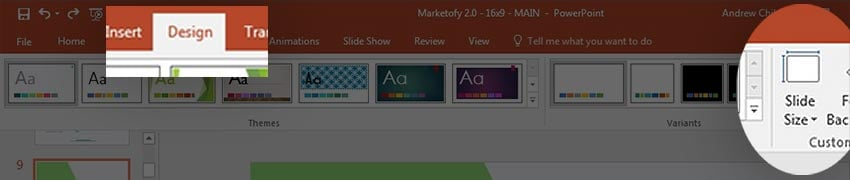 Slide size PowerPoint