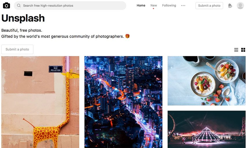 Check out Unsplash for free to use images