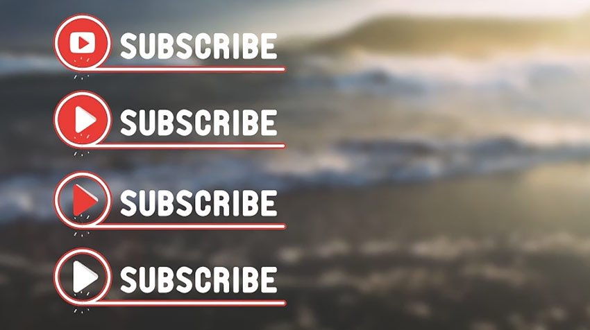 YouTube subscribe animation template