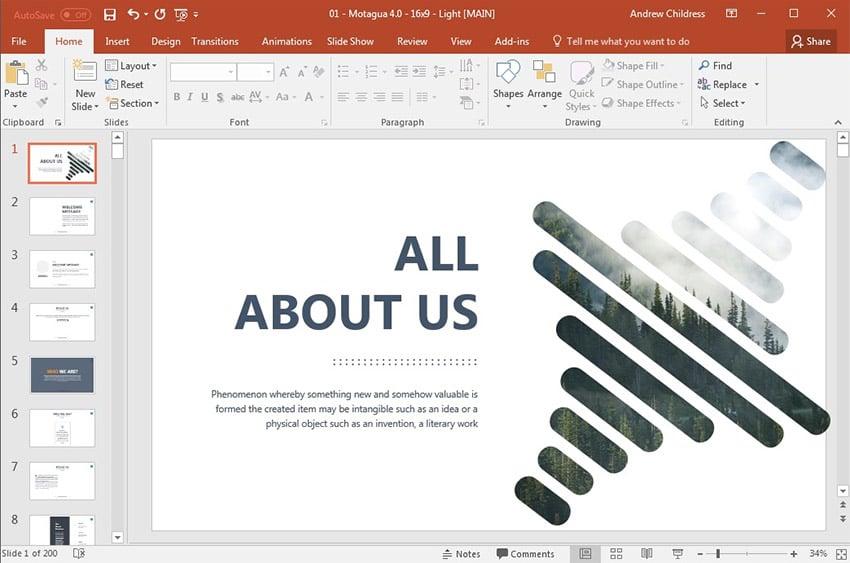 Motagua PowerPoint theme
