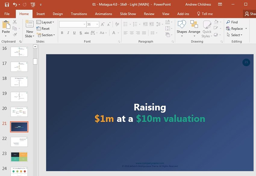 Raising funding professional slide design