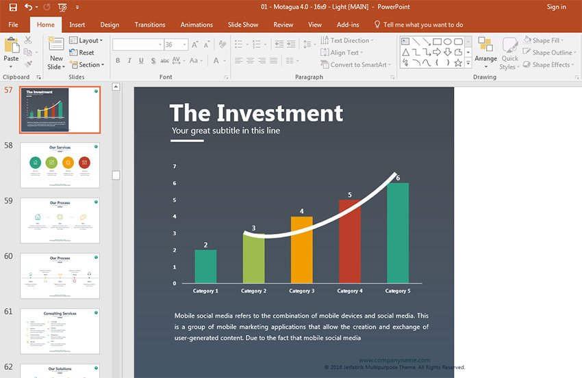 Professional PowerPoint presentation chart example