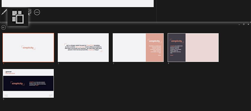 Slide Thumbnails in PowerPoint