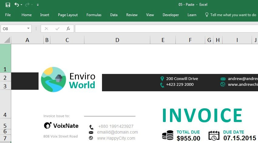 Logo Added Excel Tutorial
