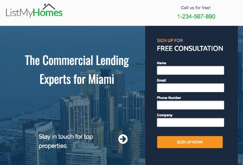 Unbounce landing page example