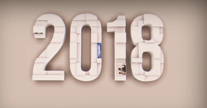 2018 new year 3D