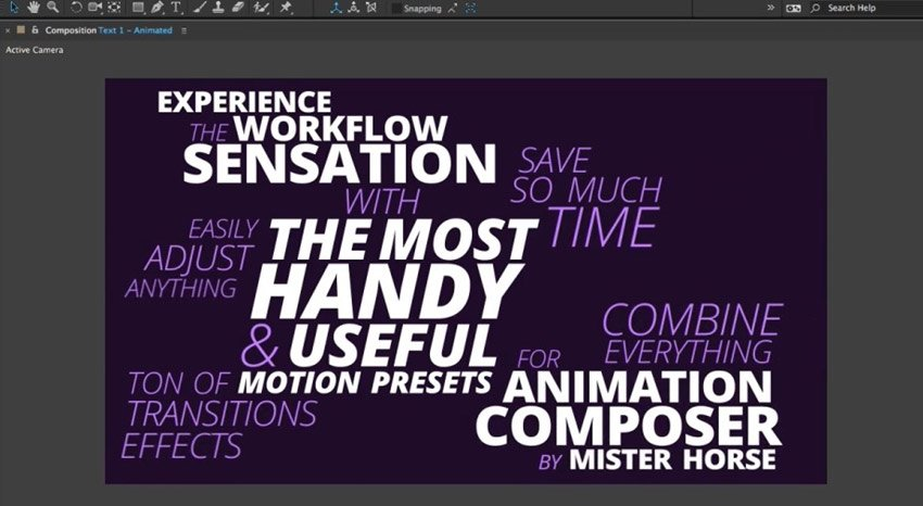 Most Handy Presets for Animation Composer