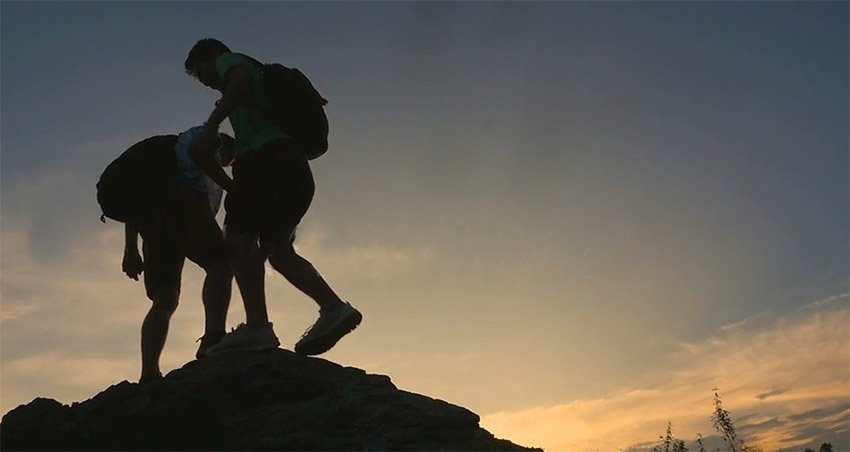 Rock Climbing Helping Hand