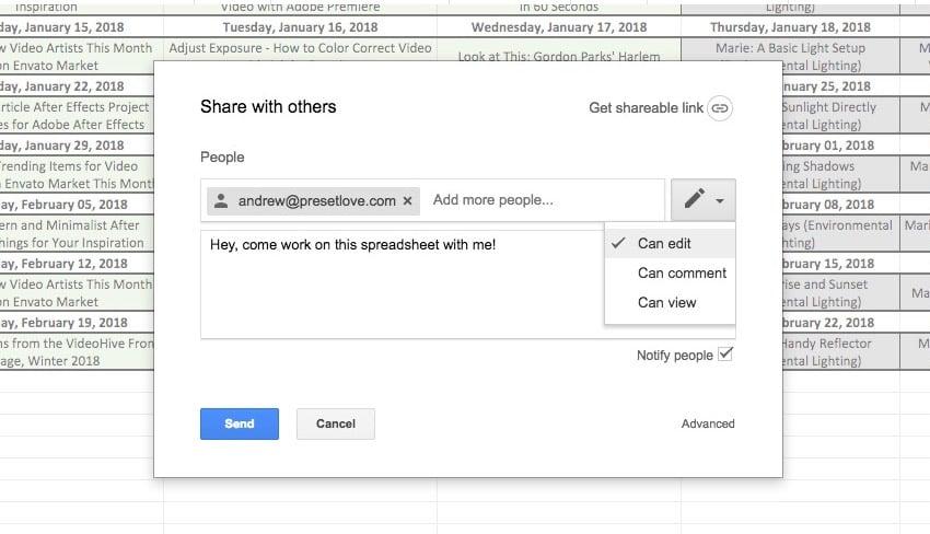 Invite to Collaborate