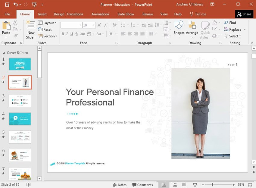 Personal Finance Persona Example