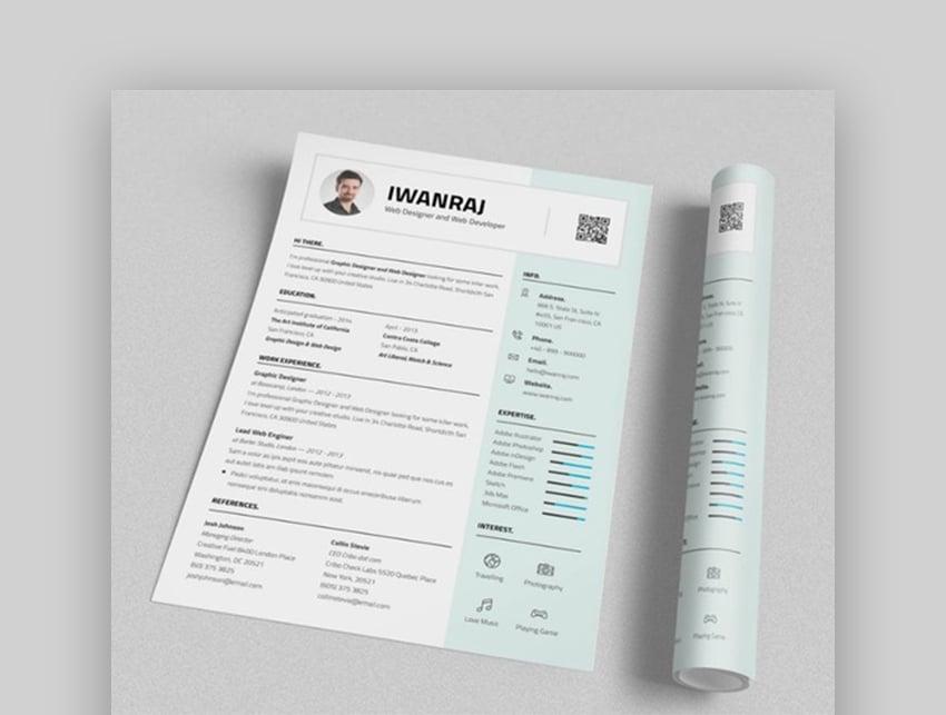 broluthfi Resume clean resume template