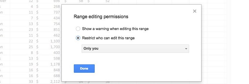 Restrict who can edit this range