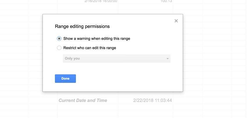 Show a warning in Editing cell