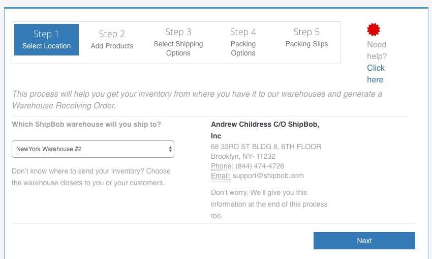 Step 1 send inventory