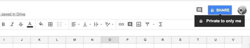 Share Button Google Sheets