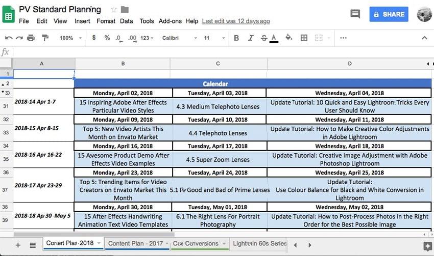 Tutorial Planning