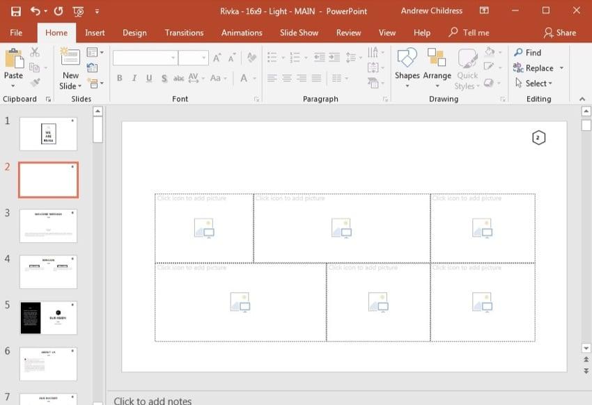 PowerPoint Masonry Layout