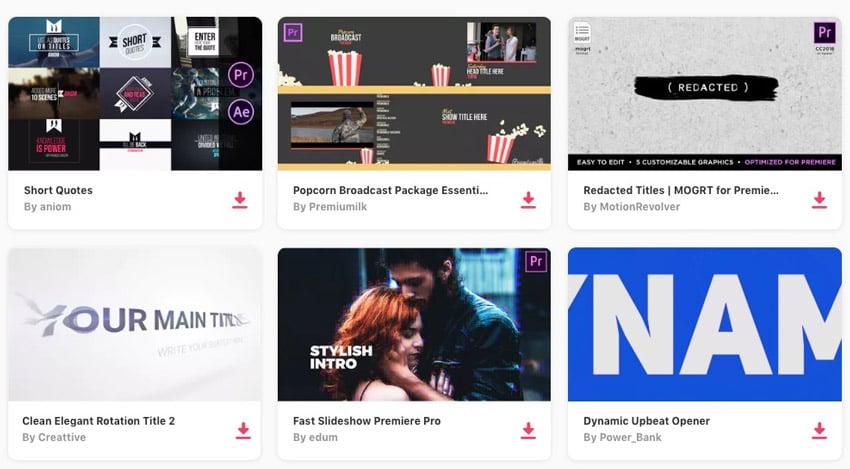 Adobe Premiere on Envato Elements
