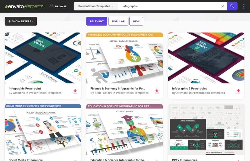 Elements Infographics PowerPoint templates