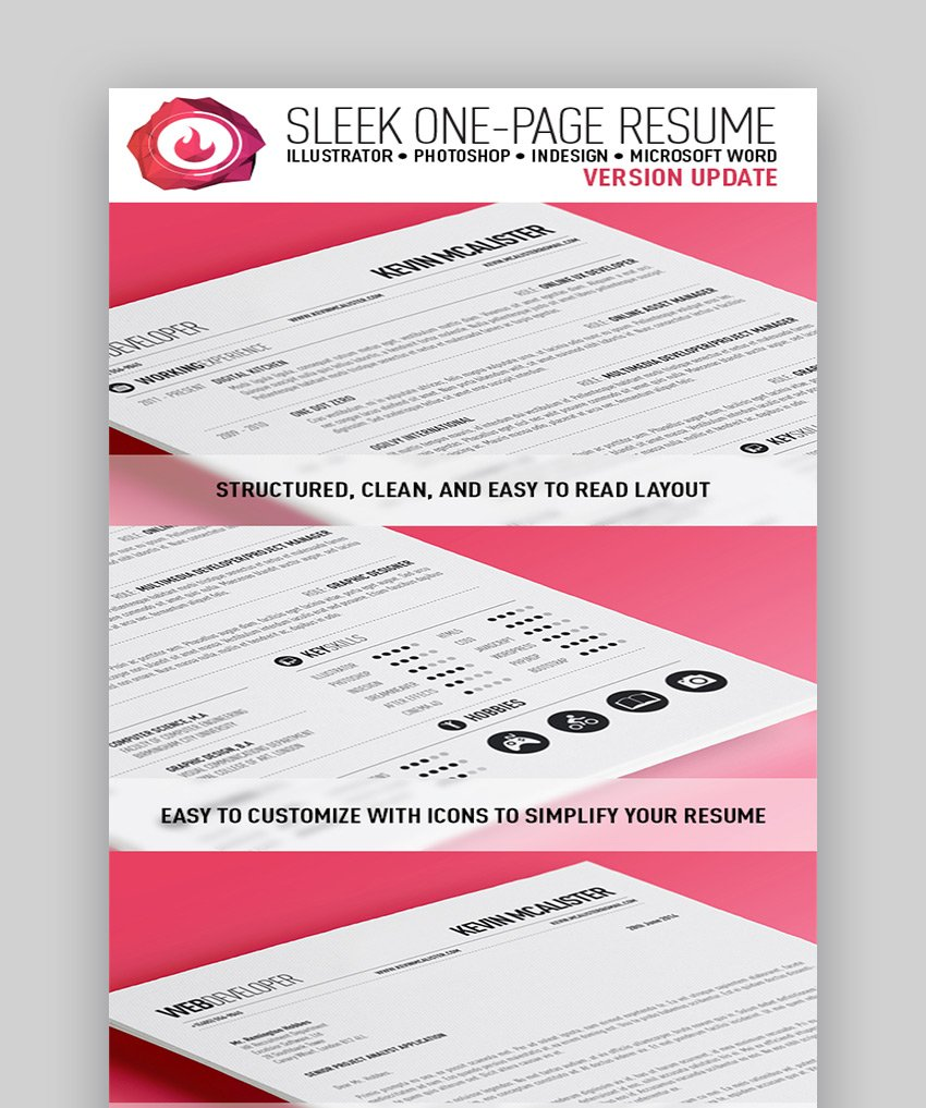 Sleek One-Page Resume