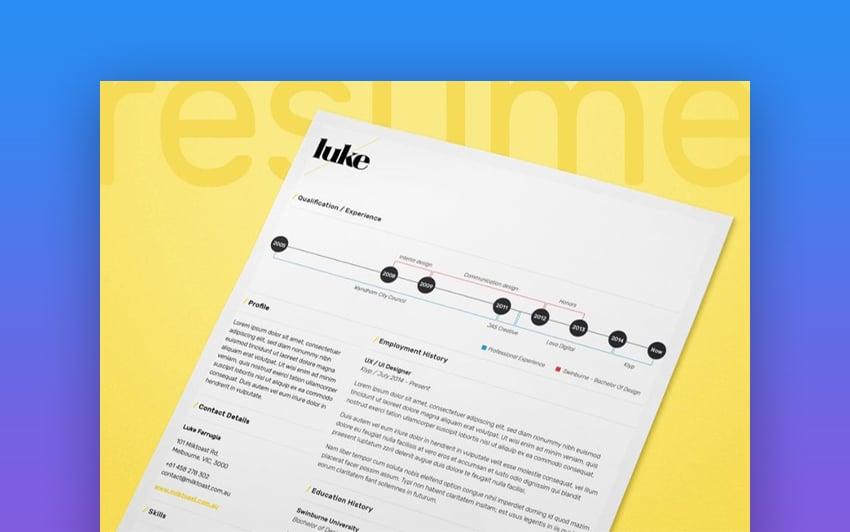 Single Page ResumeCV