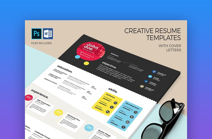 Colorful Creative Resume Templates