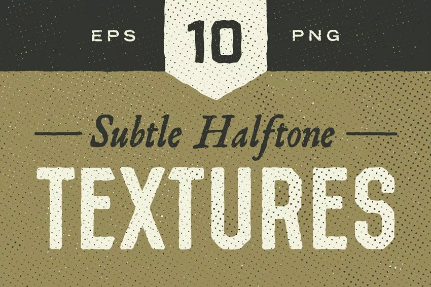 Subtle Halftone Textures