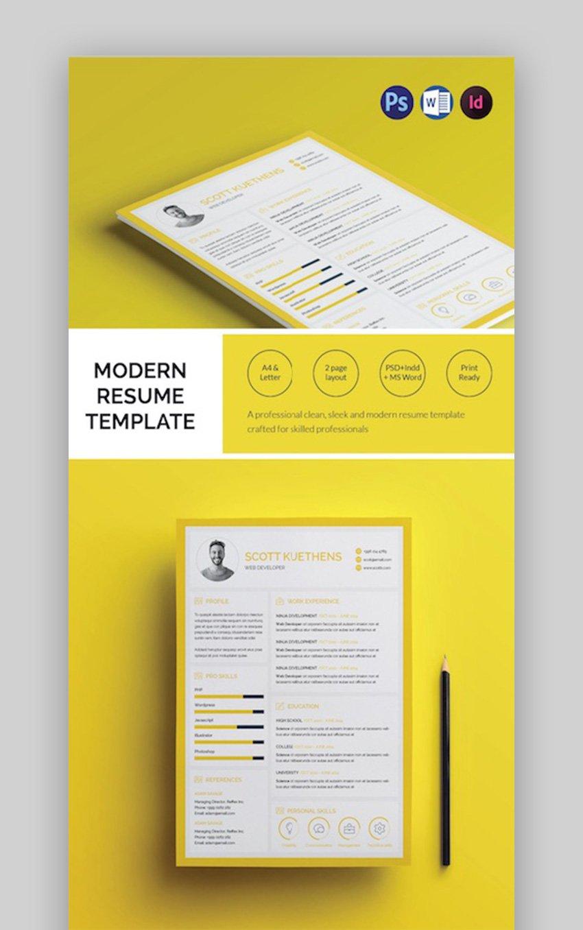 Modern Resume Design Template