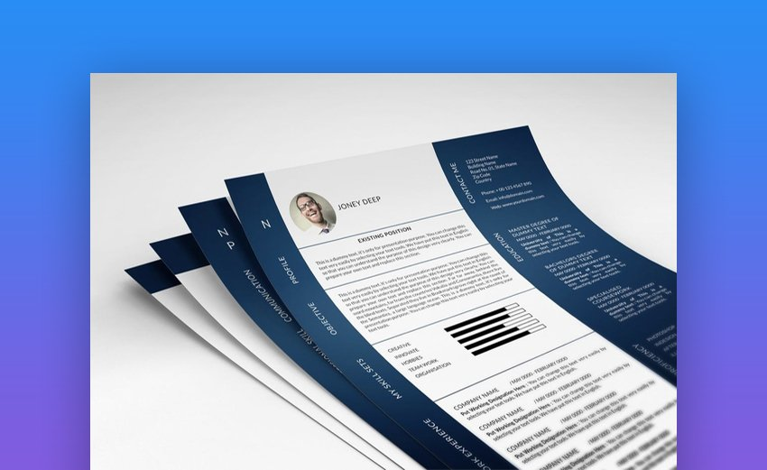 Two Column InDesign Resume