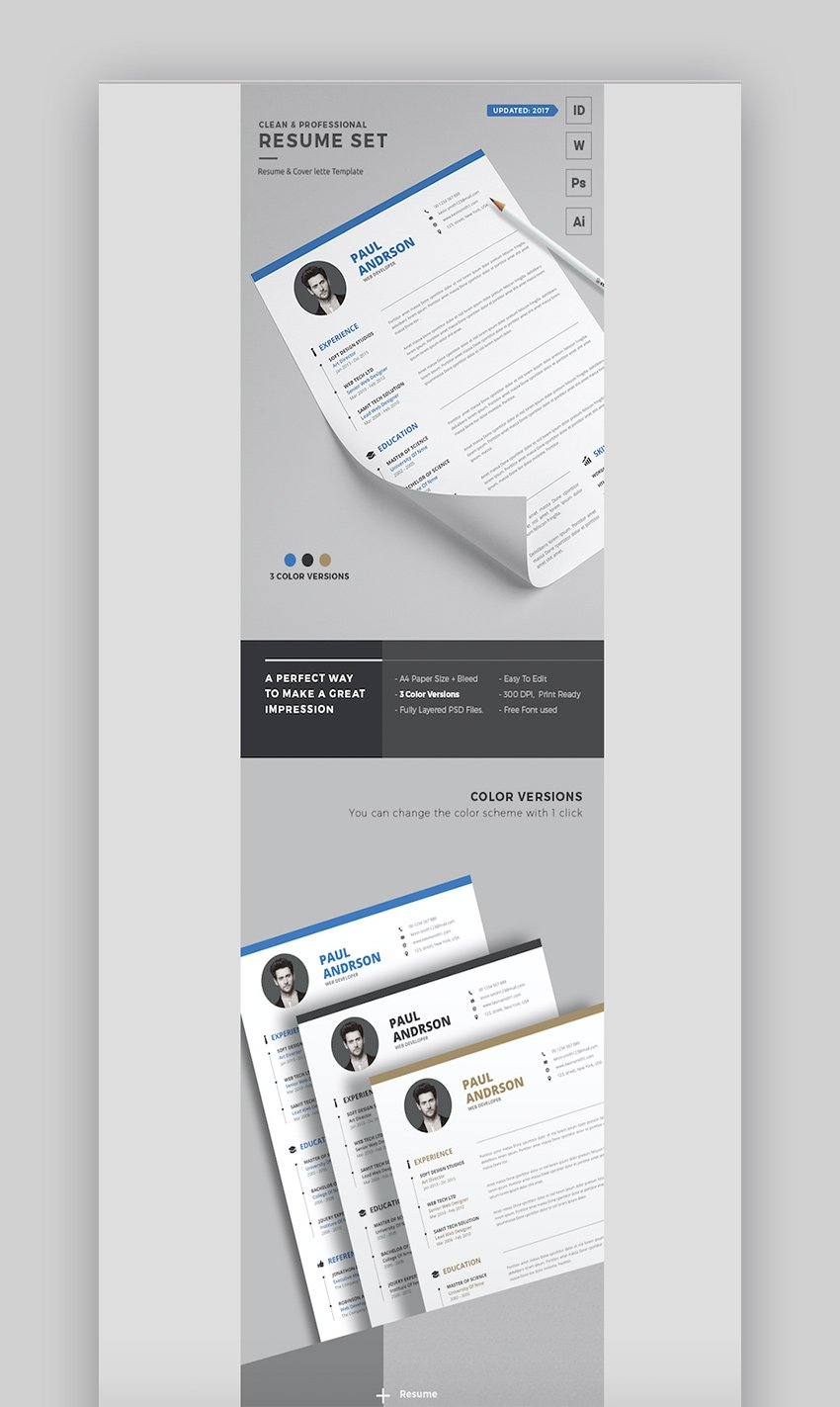 Clean Professional Resume Template