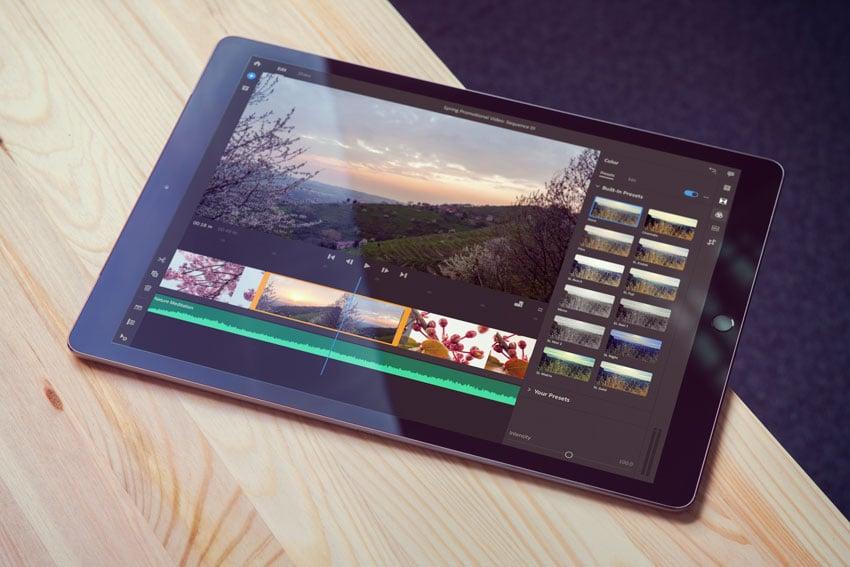 Adobe rush on iPad