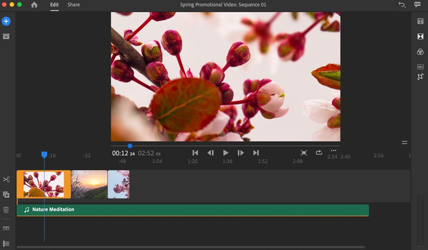 Resequence cilps in Adobe Rush