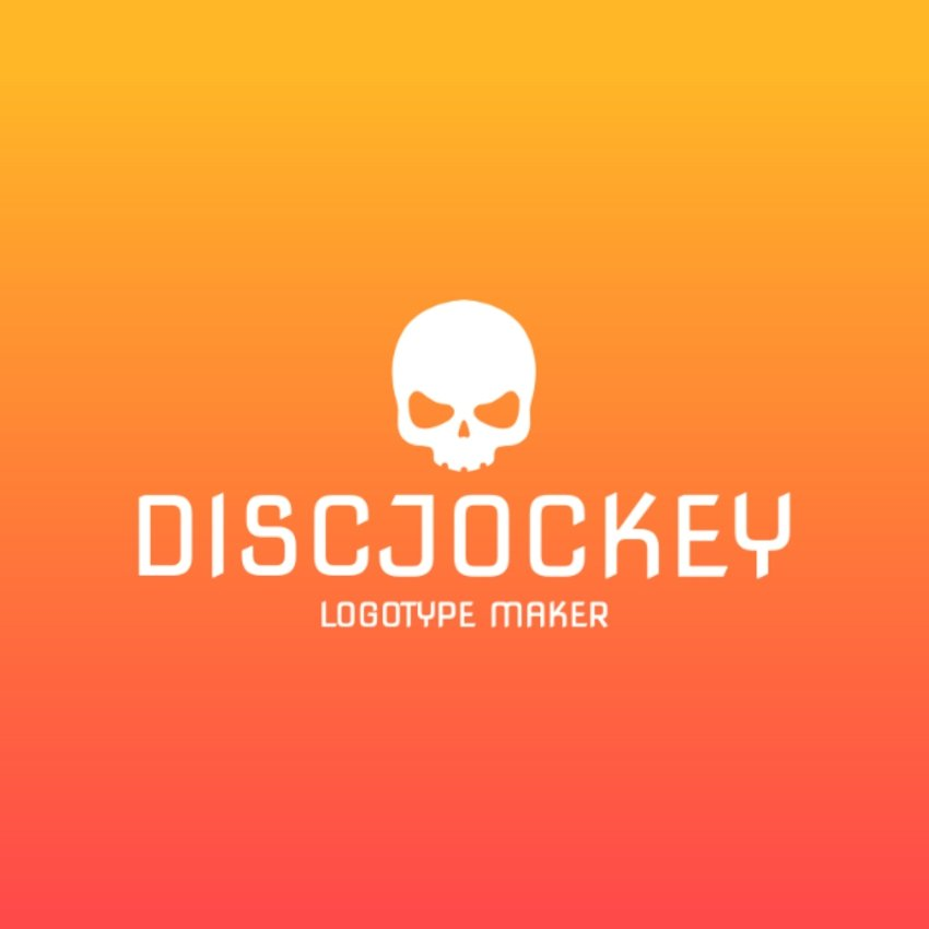DJ Logo Maker with Skull Icon