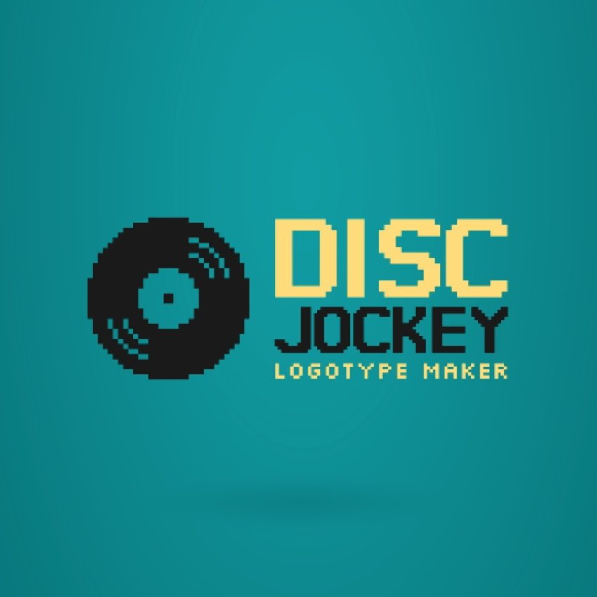 DJ Logo Maker with Vinyl Icon