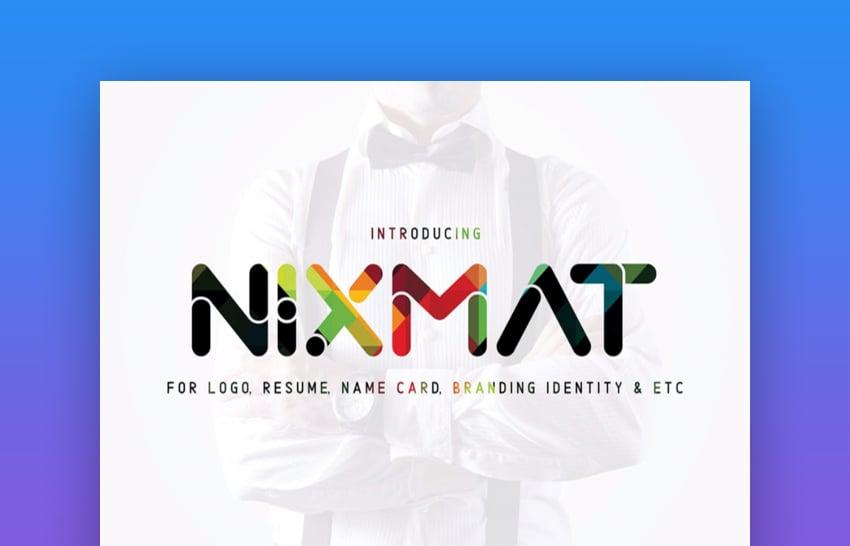 Nixmat a Brand Identity Font