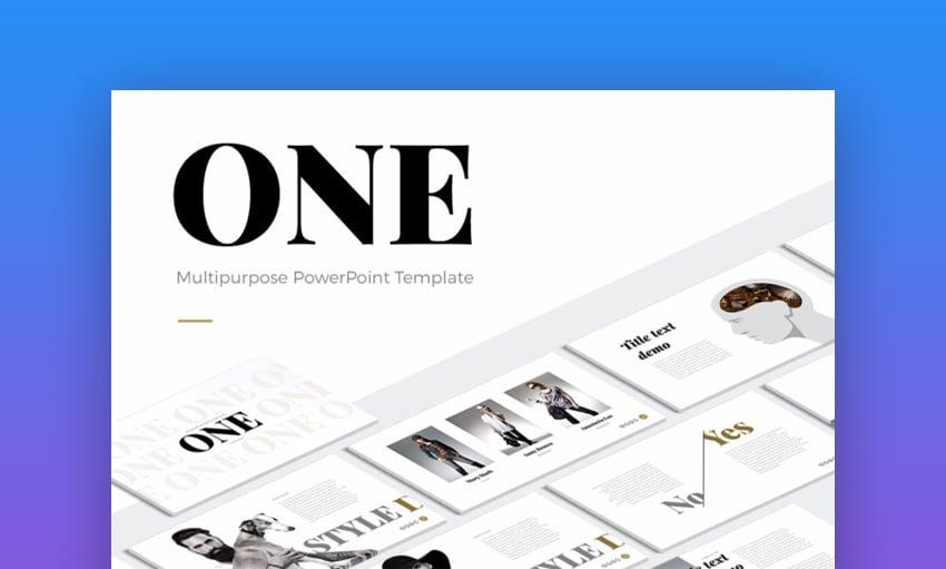 One Modern PowerPoint Template