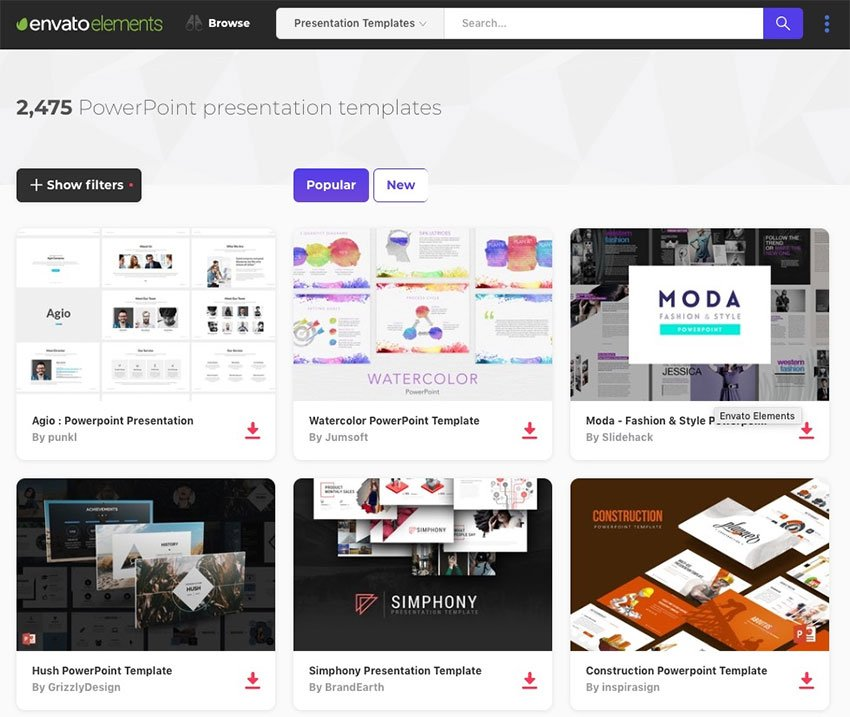 Elements PowerPoint Template