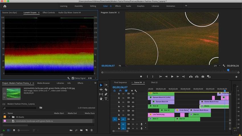Adobe Premiere Interface