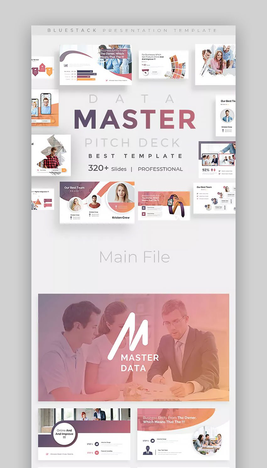 Data Master Pitch Deck PowerPoint Template