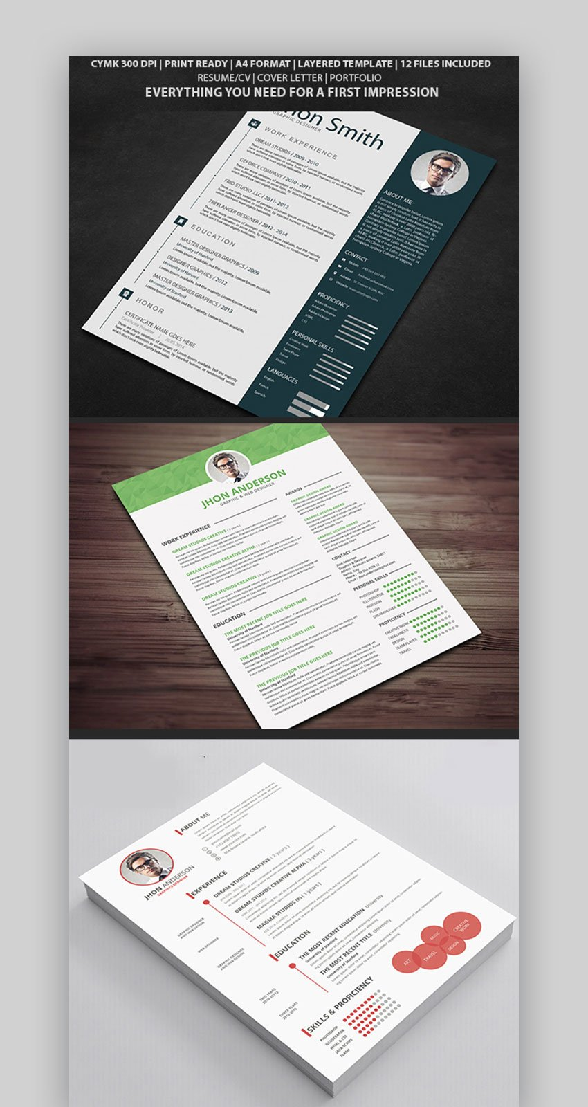 Resume Bundle with Infographic Elements