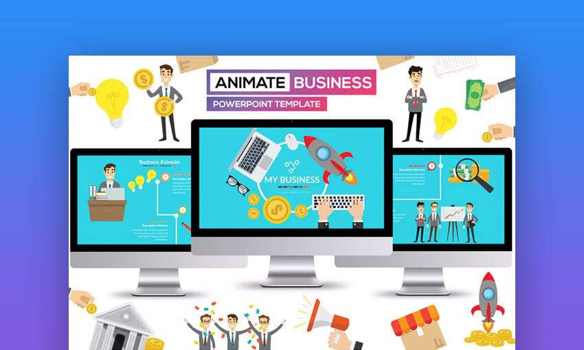 Business Animate - Presentacin en PPT para Negocios