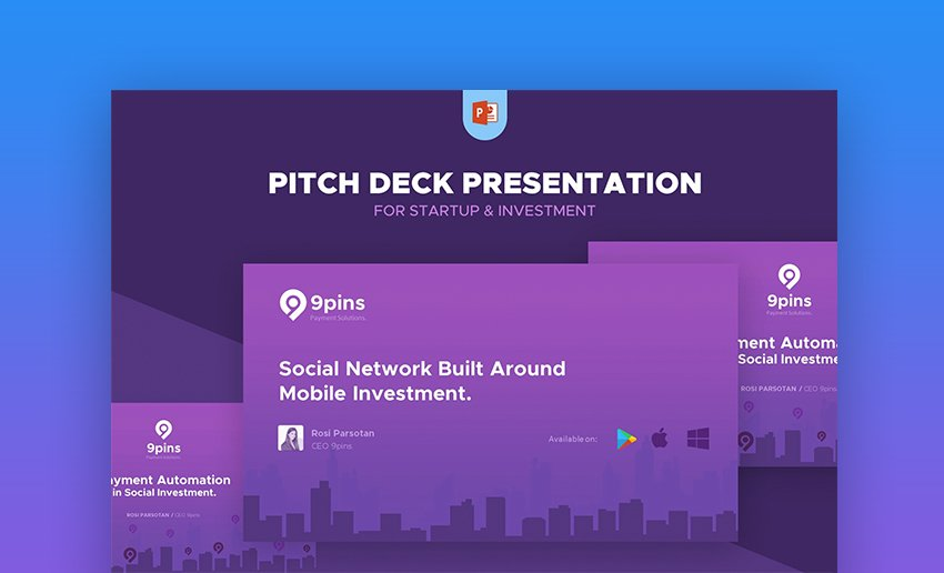 Fintech Startup Pitch Deck Presentation Template