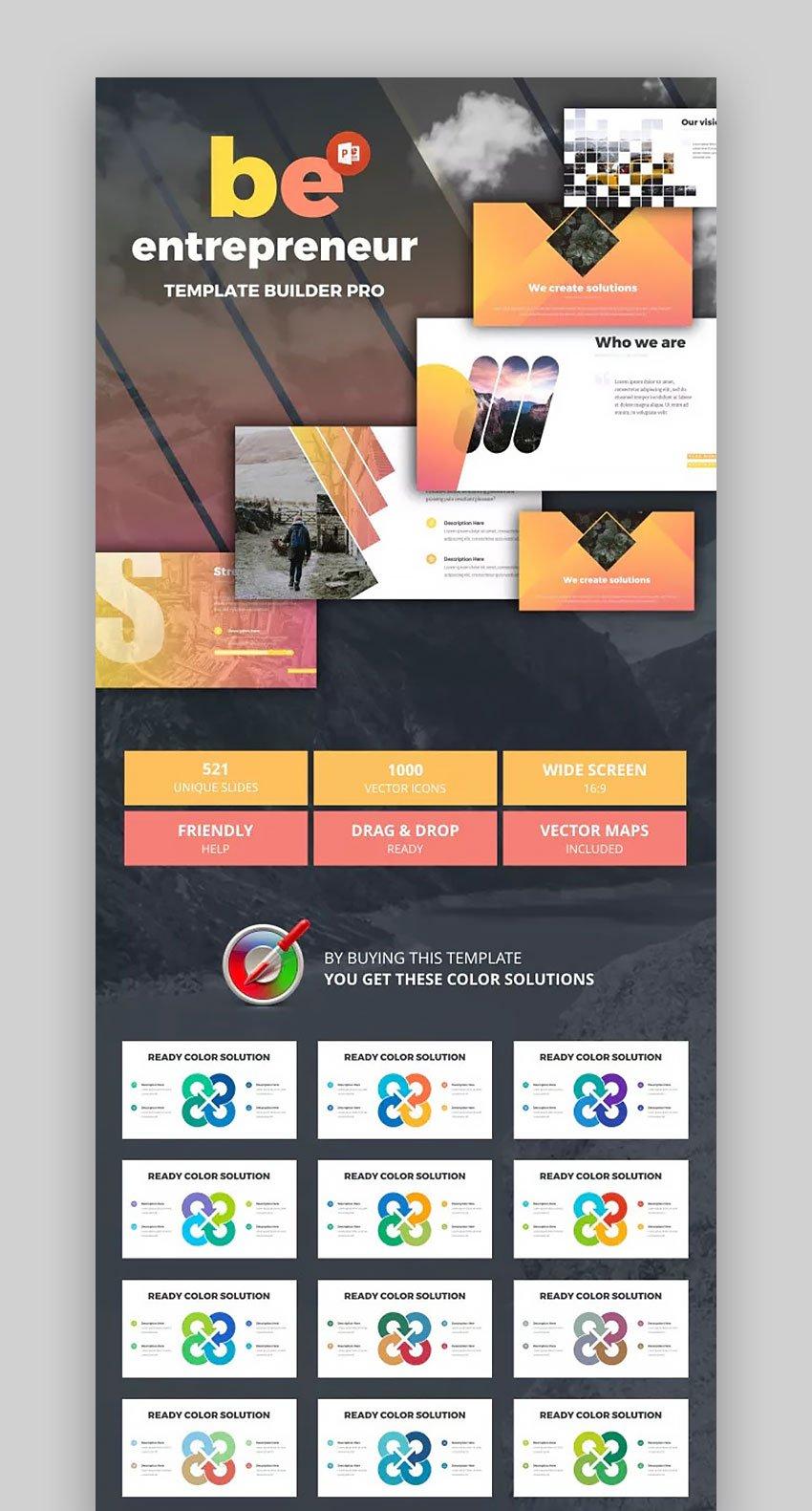 Be Entrepreneur Best Presentation PowerPoint Templates