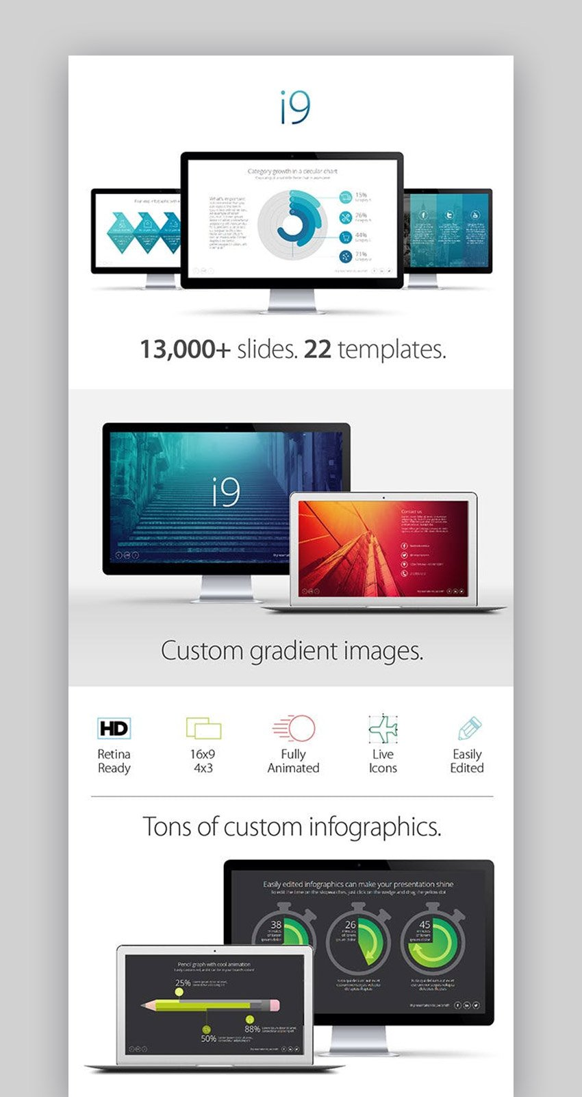 i9 Template Design Systems Workflow Chart Template PowerPoint