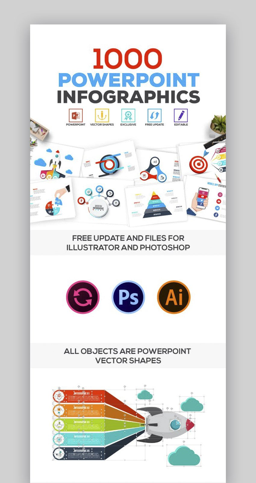 Multipurpose Infographics PowerPoint Process Map Template